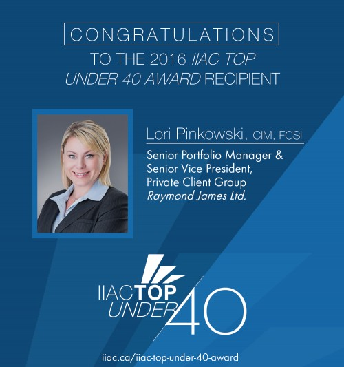 IIAC Top Under 40 Award 2016 recipient
